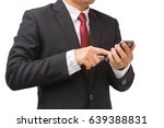 businessman in the suit is... | Shutterstock . vector #639388831