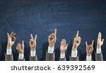 hands showing gestures | Shutterstock . vector #639392569