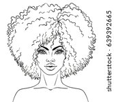 african american pretty girl.... | Shutterstock .eps vector #639392665