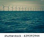 wind turbines generator farm... | Shutterstock . vector #639392944
