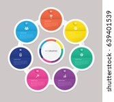 circle infographic template... | Shutterstock .eps vector #639401539