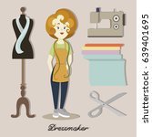 tailor or dressmaker   Shutterstock .eps vector #639401695