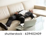 tired businessman lying relaxed ... | Shutterstock . vector #639402409