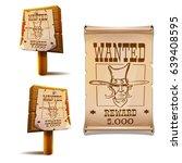 wild west decoration   wooden... | Shutterstock .eps vector #639408595