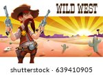 wild west landscape with cool... | Shutterstock .eps vector #639410905