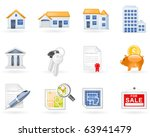 real estate icon set | Shutterstock .eps vector #63941479