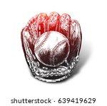 baseball glove with ball   hand ...   Shutterstock .eps vector #639419629
