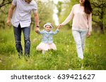family mom  dad and daughter... | Shutterstock . vector #639421627