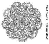 vector black mandala  doodle...   Shutterstock .eps vector #639431959