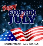 a fourth of july independence...   Shutterstock .eps vector #639436765