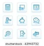 shopping web icons set 3  white ... | Shutterstock .eps vector #63943732