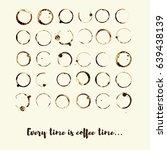 set of vector coffee or tea cup ... | Shutterstock .eps vector #639438139