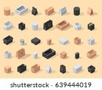 different box vector isometric... | Shutterstock .eps vector #639444019