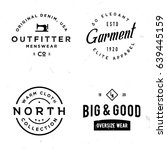 set of vintage stickers on... | Shutterstock .eps vector #639445159
