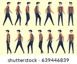 walking man for animation in 14 ... | Shutterstock .eps vector #639446839
