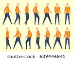 walking man for animation 14... | Shutterstock .eps vector #639446845
