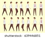 walking man for animation 14... | Shutterstock .eps vector #639446851