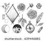 hand drawn sketch illustration. ... | Shutterstock .eps vector #639446881