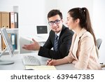 young businessmen discussing a...   Shutterstock . vector #639447385