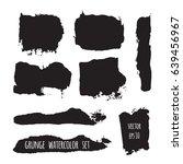 vector dark black grunge... | Shutterstock .eps vector #639456967