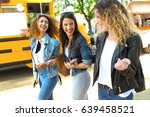 portrait of three beautiful... | Shutterstock . vector #639458521