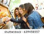 portrait of three beautiful... | Shutterstock . vector #639458557