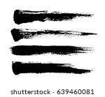 brush strokes isolated. ink... | Shutterstock .eps vector #639460081