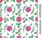 watercolor seamless pattern... | Shutterstock . vector #639460381