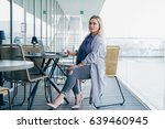 well dressed woman is... | Shutterstock . vector #639460945