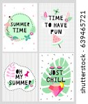 summer posters with diamond... | Shutterstock .eps vector #639465721