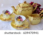afternoon tea party   vintage...   Shutterstock . vector #639470941