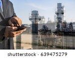 double exposure of businessman...   Shutterstock . vector #639475279