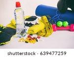 fitness equipment | Shutterstock . vector #639477259
