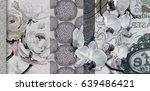 home decorative canvas flower... | Shutterstock . vector #639486421