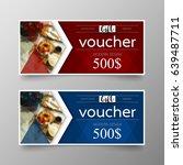 gift voucher premium template... | Shutterstock .eps vector #639487711