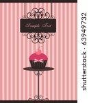 cupcake design | Shutterstock .eps vector #63949732