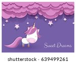 a lovely greeting card with a... | Shutterstock .eps vector #639499261