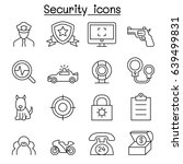 security icon set in thin line... | Shutterstock .eps vector #639499831