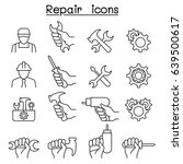 repair  maintenance  service ... | Shutterstock .eps vector #639500617
