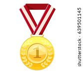 Gold First Place Medal On A Re...