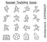 soccer  football training icons ... | Shutterstock .eps vector #639506029