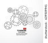 teamwork graphic vector design. ...   Shutterstock .eps vector #639509941