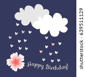 greeting card happy birthday... | Shutterstock .eps vector #639511129