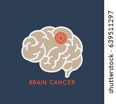brain cancer logo vector icon... | Shutterstock .eps vector #639511297