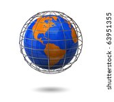 globe in a cage | Shutterstock . vector #63951355