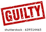 square grunge red guilty stamp | Shutterstock .eps vector #639514465