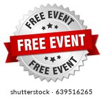 free event round isolated... | Shutterstock .eps vector #639516265