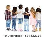 group of children standing and... | Shutterstock . vector #639522199