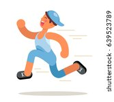 man run in flat style   Shutterstock .eps vector #639523789