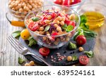 healthy chickpea vegan salad ... | Shutterstock . vector #639524161